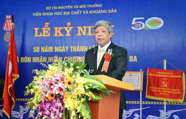 Thứ trưởng Bộ TN&MT Nguyễn Linh Ngọc phát biểu tại buổi Lễ