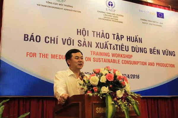 Phó Tổng Cục trưởng Mai Thanh Dung phát biểu