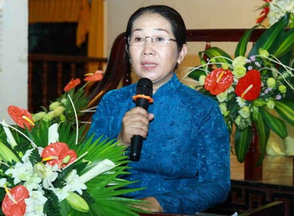 Bà Võ Thị Dung - tân Phó Bí thư Thành ủy TPHCM