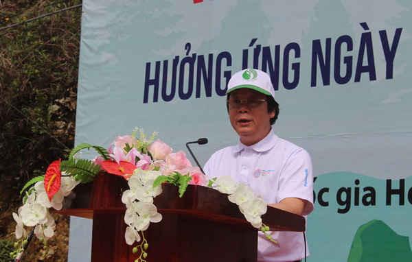 Thứ trưởng Bộ TN&MT Võ Tuấn Nhân phát biểu tại buổi lễ