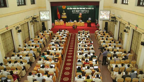 Quang cảnh buổi khai mạc kỳ họp thứ 2 – HĐND tỉnh Nghệ An khóa XVII