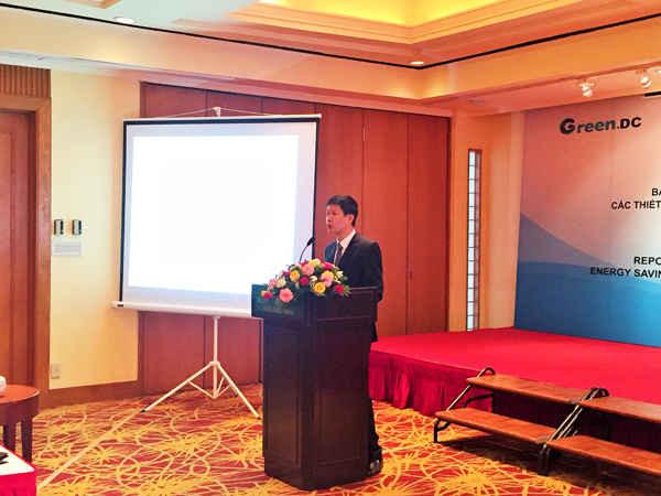 Ông Mai Văn Huyên - Phó Giám đốc Trung tâm Phát triển Xanh phát biểu khai mạc hội thảo
