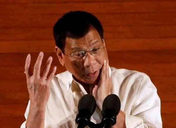 Tổng thống Philippines Rodrigo Duterte phát biểu tại Quốc hội Philippines ở thành phố Quezon, Metro Manila, Philippines vào ngày 25/7/2016. Ảnh: REUTERS / ERIK DE CASTRO
