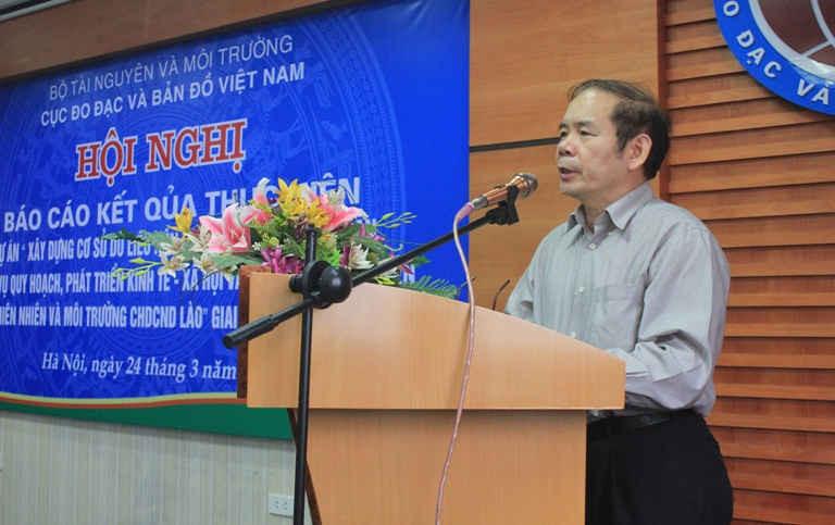 Ông Phan Đức Hiếu – Cục trưởng Cục Đo đạc và Bản đồ Việt Nam phát biểu khai mạc Hội nghị