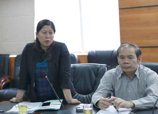 """Thứ trưởng Bộ TN&MT Nguyễn Thị Phương Hoa phát biểu chỉ đạo tại Hội nghị báo cáo kết quả thực hiện dự án Dự án """"Xây dựng cơ sở dữ liệu nền thông tin cơ bản phục vụ quy hoạch, phát triển kinh tế - xã hội và giám sát tài nguyên thiên nhiên và môi trường CHDCND Lào"""" giai đoạn 2014 – 2016"""