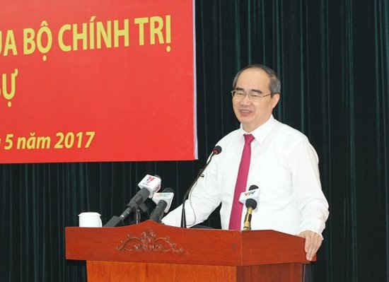 Ông Nguyễn Thiện Nhân - Uỷ viên Bộ Chính trị, Bí thư Thành uỷ TP.HCM - ảnh: Mạnh Hùng
