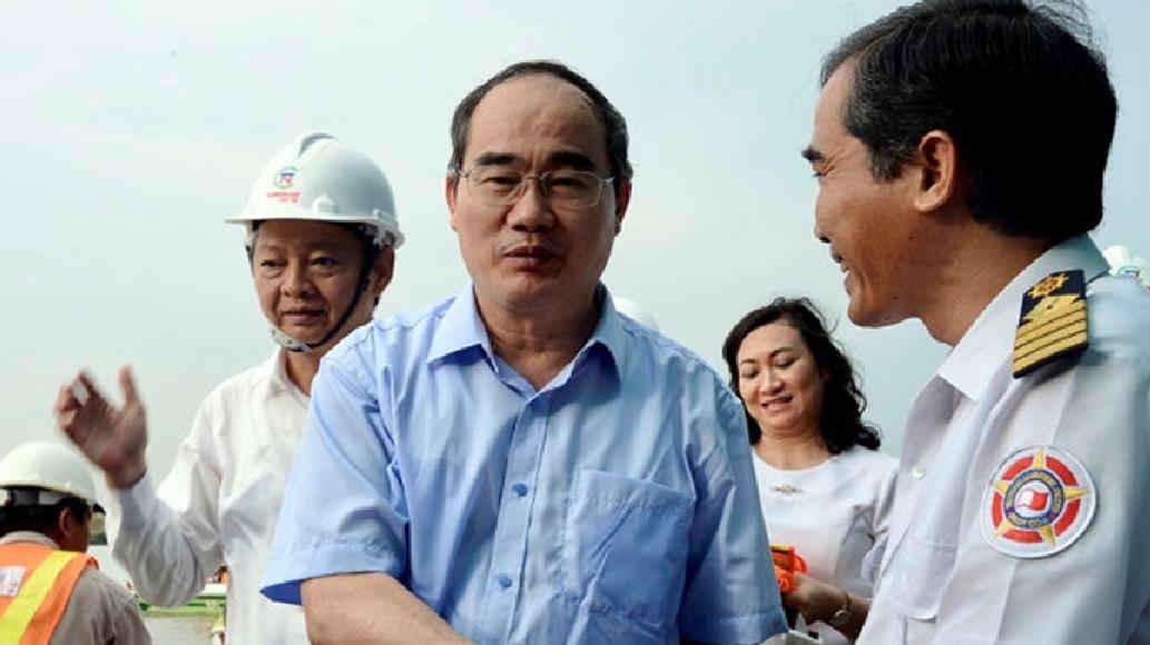 Bí thư Thành ủy TP.HCM Nguyễn Thiện Nhân tại buổi thị sát
