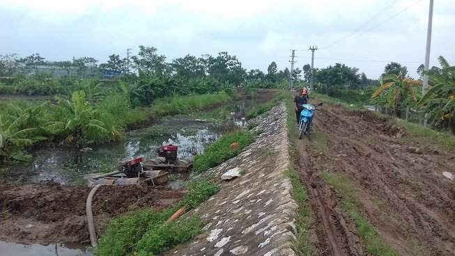 Tình trạng ô nhiễm đã ảnh hưởng đến sản xuất và đời sống của người dân địa phương.