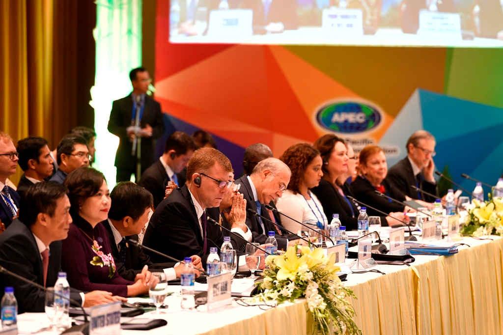 Bộ trưởng Tài chính, Trưởng đoàn và đại biểu cấp cao đại diện của 21 nền kinh tế thành viên APEC... tham dự hội nghị