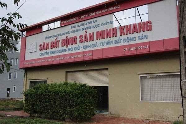 Văn phòng đại diện của Cty TNHH TM Minh Khang tại đường Lê nin