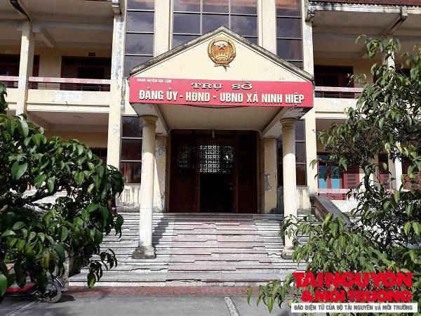 Trụ sở Đảng ủy, HĐND, UBND xã Ninh Hiệp.