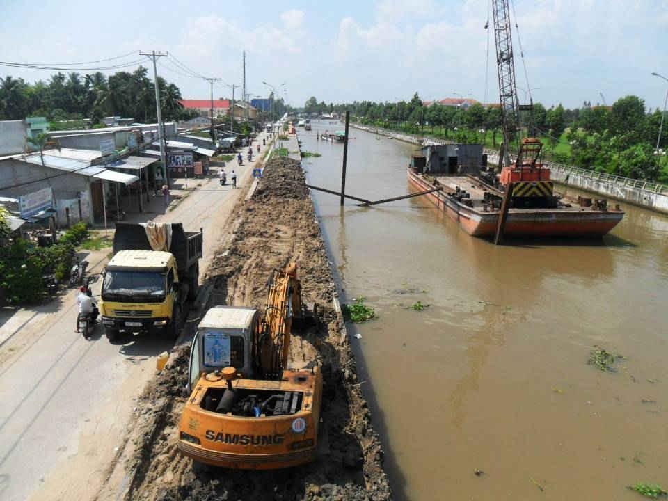 chú thích ảnh 1 kênh Tân Hiệp, huyện Châu Thành A
