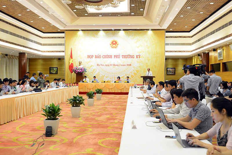 Quang cảnh họp báo CP