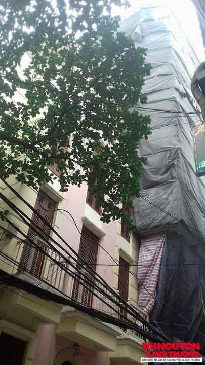 Công trình cao chọc trời tại số 5 ngõ Hội Vũ (phường Hàng Bông Hoàn Kiếm)