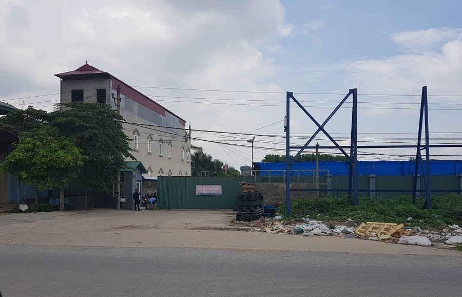 Nhà máy tái chế nhựa Công ty Sơn Tùng tại xã Lạc Đạo, huyện Văn Lâm, tỉnh Hưng Yên.