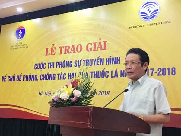 Thứ trưởng Hoàng Vĩnh Bảo phát biểu tại buổi lễ