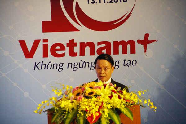 Ông Nguyễn Đức Lợi, Ủy viên Trung ương Đảng, Tổng giám đốc TTXVN biểu dương Báo Điện tử VietnamPlus