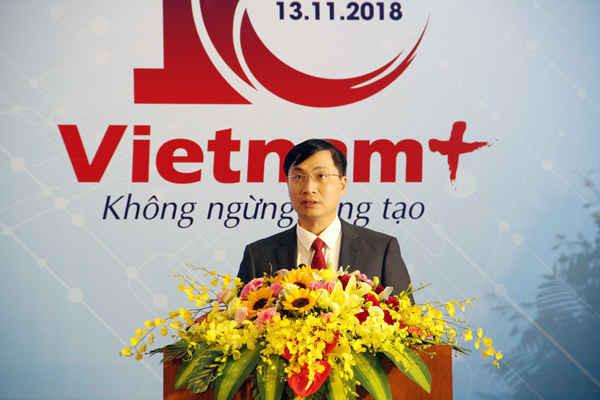 Ông Trần Tiến Duẩn, Tổng biên tập Báo Điện tử VietnamPlus điểm lại hành trình và những thành tựu của tòa soạn trong 10 năm qua