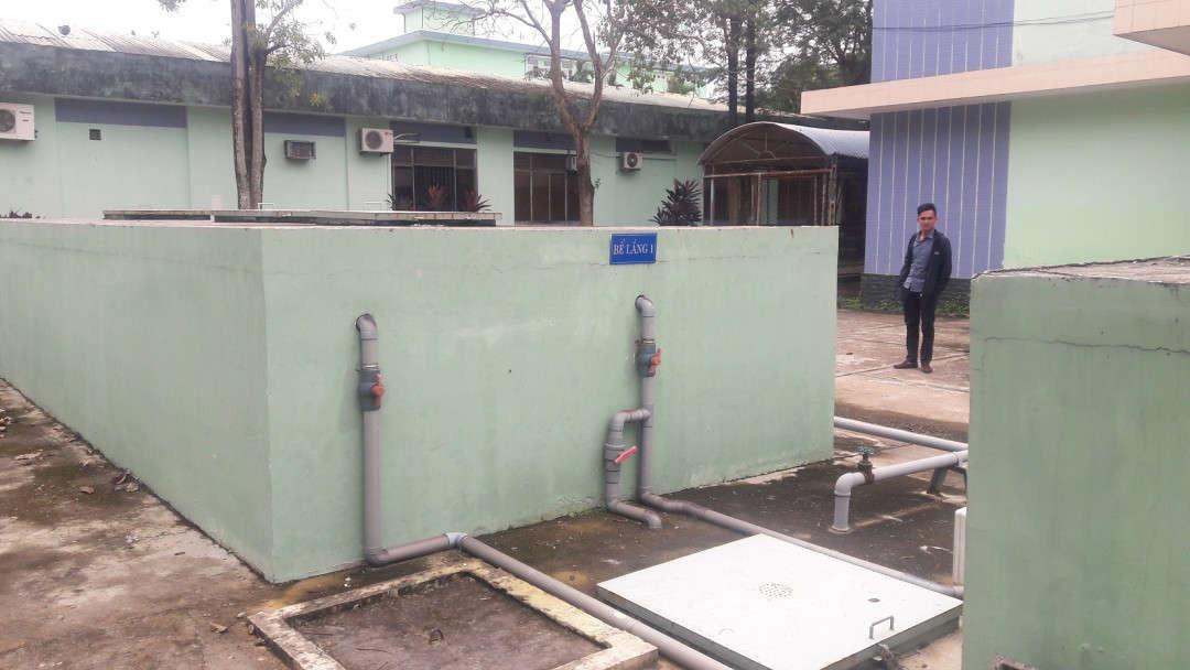 Khu vực công trình xử lý nước thải trị giá 4 tỷ đồng tại Trung tâm y tế quận Ngũ Hành Sơn