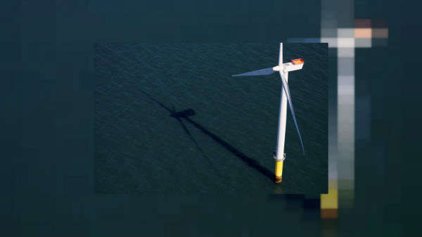 Toàn cảnh trang trại gió ngoài khơi Walney Extension được vận hành bởi Orsted ở bờ biển Blackpool, Anh vào ngày 5/9/2018. Ảnh: Reuters / Phil Noble