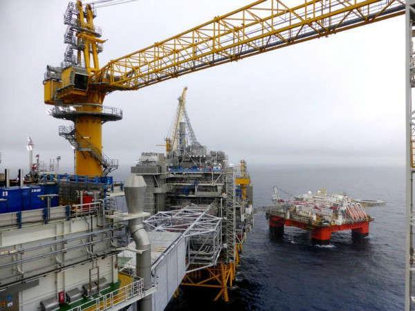 Quang cảnh giàn khoan dầu của Equinor tại mỏ dầu Johan Sverdrup ở Biển Bắc, Na Uy vào ngày 22/8/2018. Ảnh: Nerijus Adomaitis