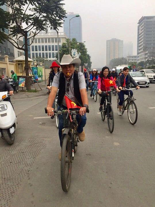 tổ chức chương trình đạp xe hướng về cội nguồn dân tộc