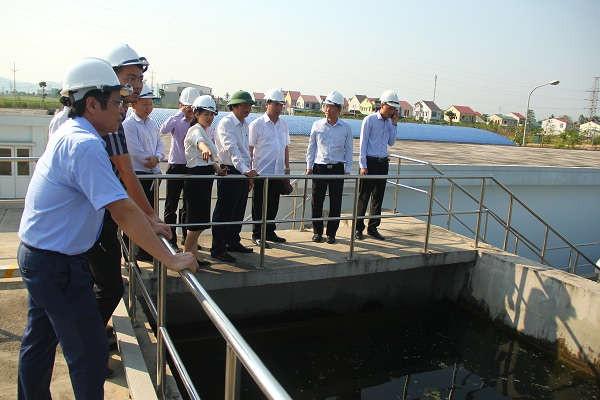 Kiểm tra hệ thống xử lý nước thải Dự án Khu Công nghiệp, Đô thị và Dịch vụ VSIP Nghệ An