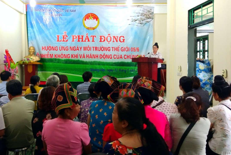 Lễ phát động hưởng ứng Ngày môi trường thế giới được tổ chức tại xã Noong Hẹt, huyện Điện Biên.