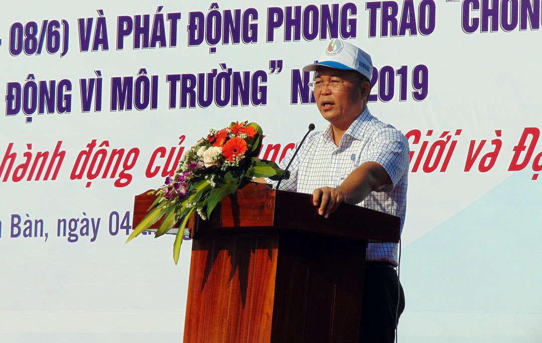 Ông Lê Trí Thanh - Phó Chủ tịch UBND tỉnh Quảng Nam phát biểu tại buổi lễ