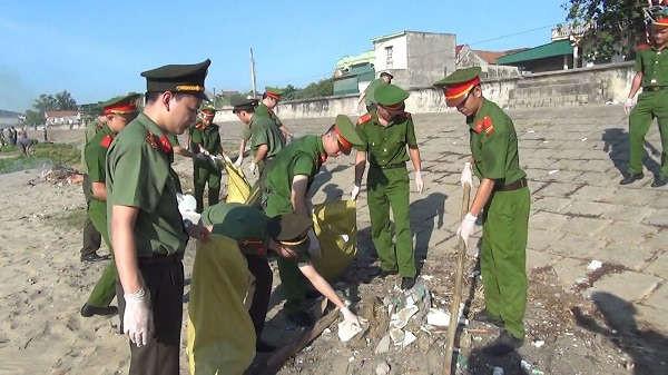 Công an Thanh Hóa chung tay bảo vệ môi trường