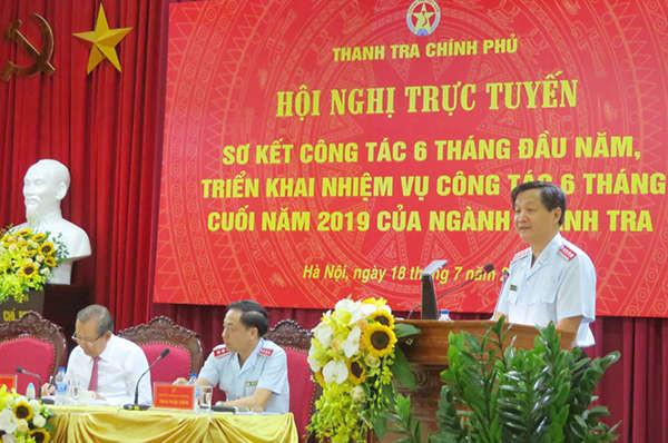 Ông Lê Minh Khái - Tổng Thanh tra Chính phủ chủ trì hội nghị