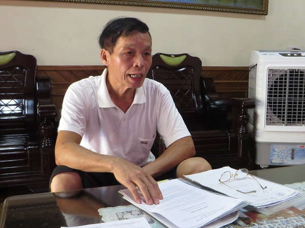 Ông Hoàng Văn Huỳnh cho rằng, chủ đầu tư dự án lừa dối người dân, thực hiện không đúng hợp đồng đã ký kết
