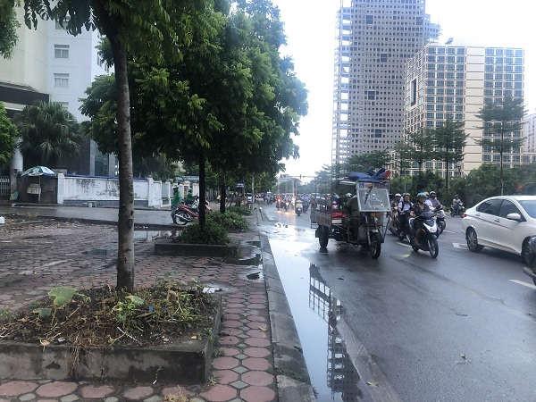 Người dân Kim Liên Tân Mai Mỹ Đình được hưởng chất lượng không khí tốt trong ngày Hà Nội trở mưa