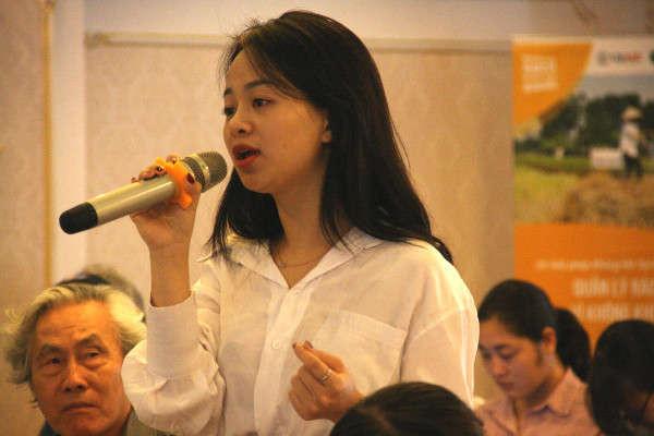 bà Hoàng Thị Hương Giang – Điều phối viên của Tổ chức ICLEI