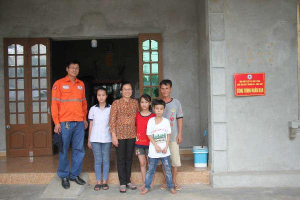 Ngôi nhà mới của 3 bố con ông Ngô Ngọc Hải do Công ty Núi Pháo phối hợp cùng Hội Chữ thập đỏ huyện Đại Từ hỗ trợ xây dựng