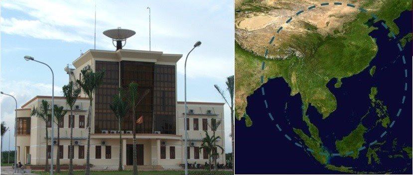 """Trạm thu dữ liệu viễn thám trong dự án """"Hệ thống Giám sát Tài nguyên thiên nhiên và Môi trường Việt Nam"""", có khả năng thu nhận dữ liệu từ vệ tinh trong vùng bán kính 2500 km"""