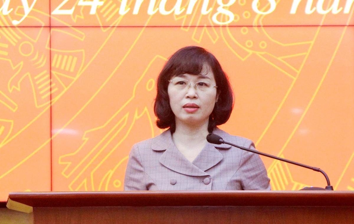 Bà Trịnh Thị Minh Thanh, Phó Bí thư Tỉnh ủy, Phó Chủ tịch Thường trực HĐND tỉnh Quảng Ninh phát biểu nhận nhiệm vụ.