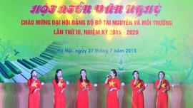 Hội diễn văn nghệ chào mừng Đại hội Đảng bộ Bộ Tài nguyên và Môi trường