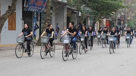 Yên Bái: Gần 100 đoàn viên đạp xe diễu hành hưởng ứng Giờ Trái đất 2017