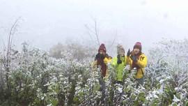 Nhiệt độ giảm sâu, tuyết phủ trắng đèo Ô Quý Hồ