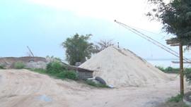 Vũ Thư - Thái Bình: Cần xử lý dứt điểm bãi tập kết vật liệu xây dựng trái phép