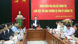 Phó Thủ tướng Chính phủ Vương Đình Huệ làm việc tại Quảng Trị