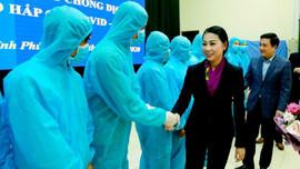 Vĩnh Phúc tăng cường 65 cán bộ y tế cho tuyến cơ sở phòng, chống dịch Covid-19