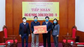 Sở TN&MT Lạng Sơn ủng hộ kinh phí phòng, chống dịch Covid -19