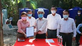 Bộ TN&MT bàn giao điểm cấp nước miễn phí tại xã Thạnh Phú, huyện Châu Thành, tỉnh Tiền Giang