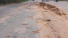 Hà Nội: Nhức nhối nạn rơi vãi bùn đất trên Đại lộ Thăng Long