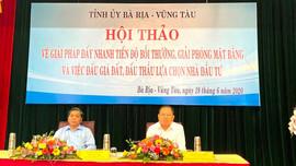 Bà Rịa - Vũng Tàu: Giải pháp đẩy nhanh tiến độ bồi thường, GPMB và đấu giá đất