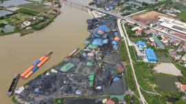 Hải Dương:  Hàng loạt bãi than tại huyện Kim Thành vi phạm hành lang thoát lũ