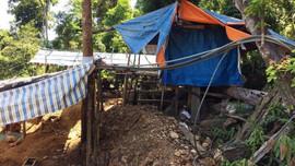 Đánh sập 26 hầm vàng tại Khe Đương (Đà Nẵng)