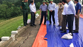 Thanh Hóa: Xuất hiện vết nứt kéo dài 173m ở thân đập hồ thuỷ lợi Sông Mực